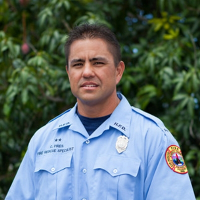 Fire Rescue Specialist Carl Pires